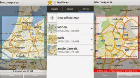 Saving Google Maps in offline mode - Updated Map Feature
