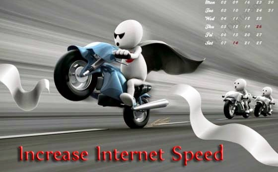 Increase internet speed in Windows