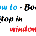 How to boot to desktop in windows 8