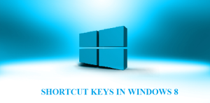Windows 8 keyboard shortcuts