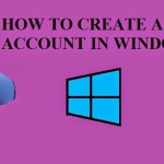 How To Create A New User Account In Windows 8?