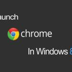 Relaunch Chrome in Windows 8 mode