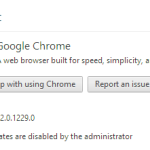Fix – updates are disabled by the administrator in chrome Browser