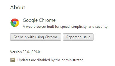 Fix - updates are disabled by the administrator chrome windows 8
