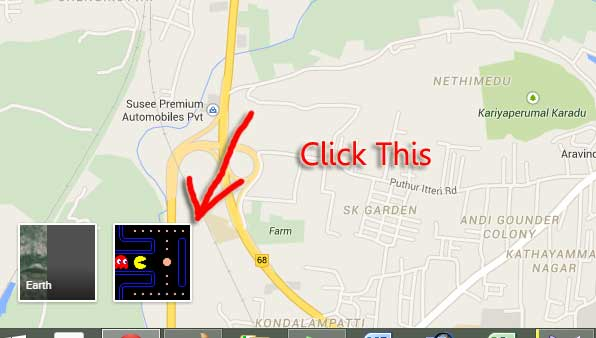 Play Pac Man Game In Google Maps