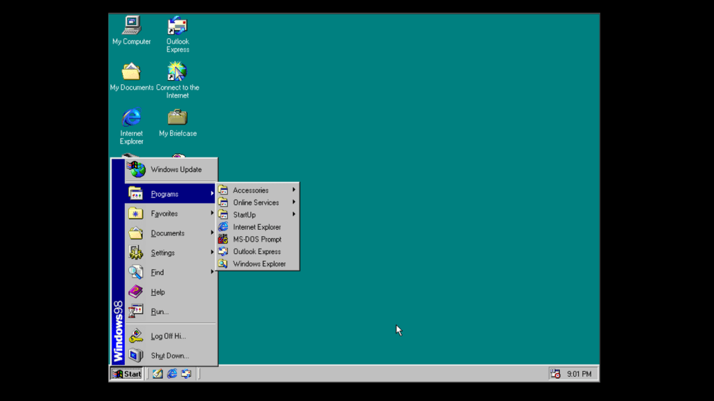 Run Windows 98 OS in Browser