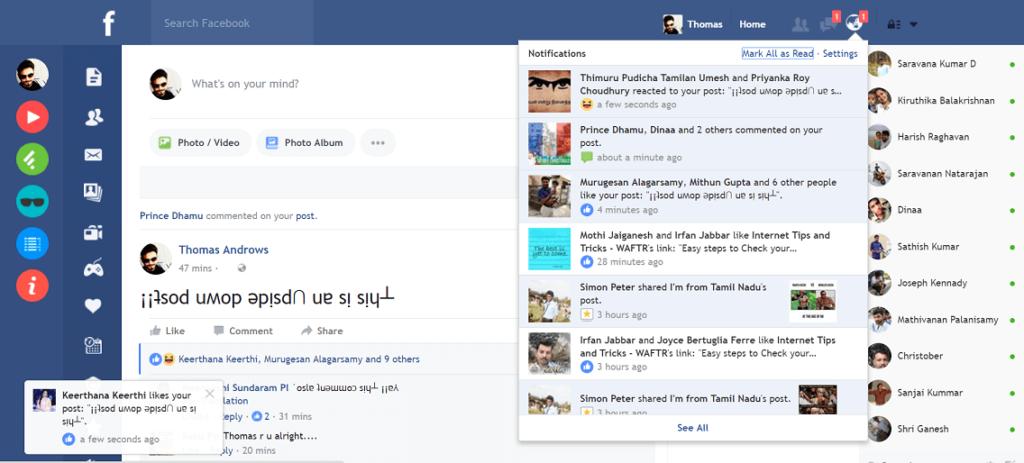Facebook Flat book