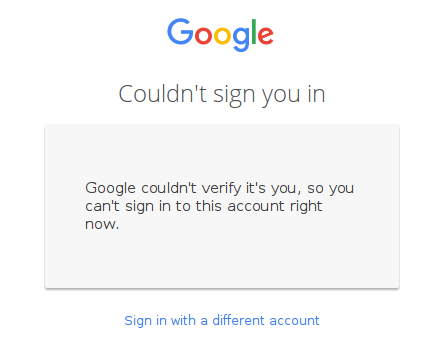 gmail couldnt sign in