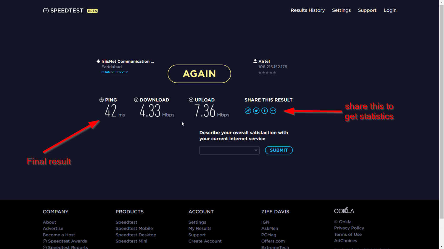Internet Speed Test Sites - Check speed in seconds (2018