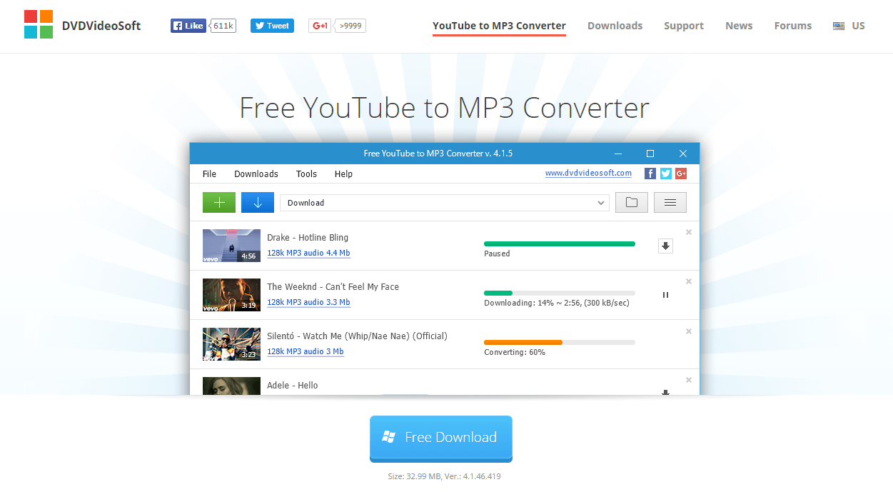 DVD Videosoft Youtube to Mp3 converter
