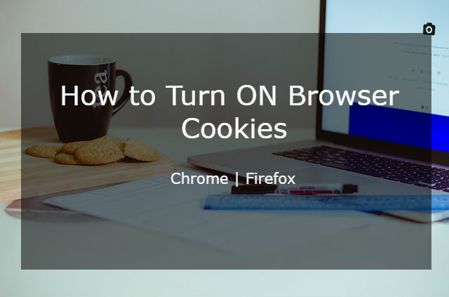 How to turn on cookies