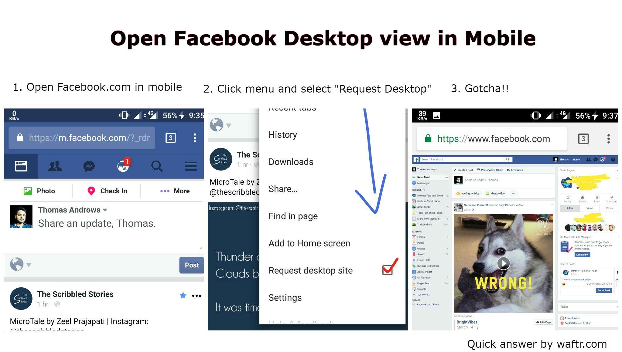 open facebook full site desktop site in mobile. Black Bedroom Furniture Sets. Home Design Ideas