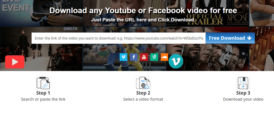 Download youtube videos using keepdownloading