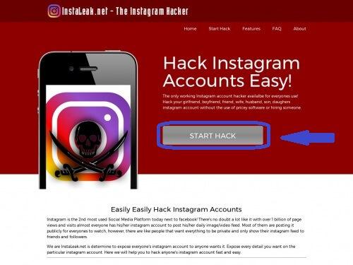 Instaleak to hack Instagram