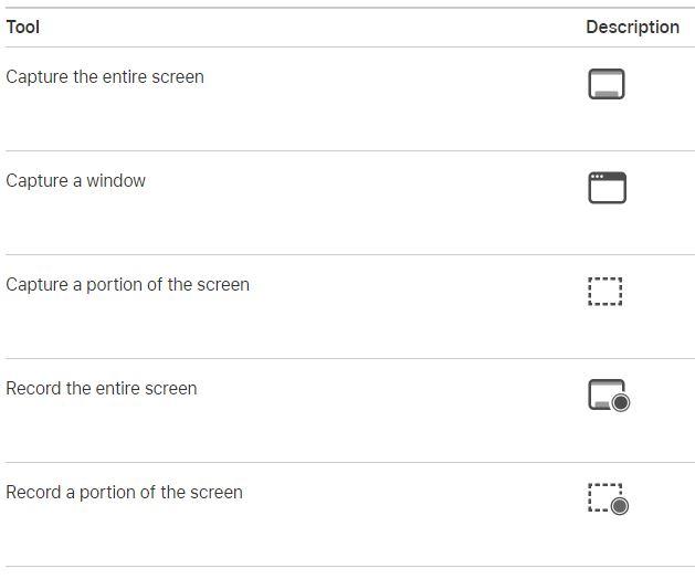 screenshot tools and description
