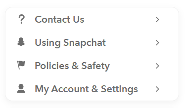 snapchat-account setting