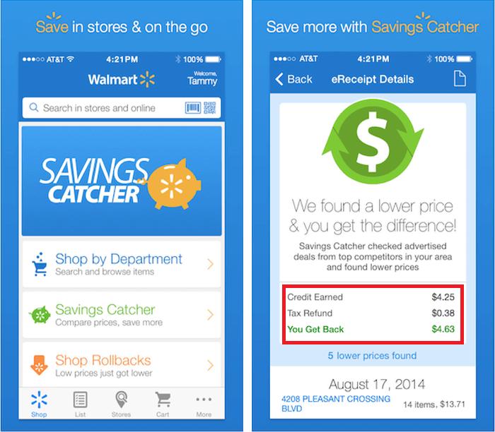 Amount - walmart savings catcher