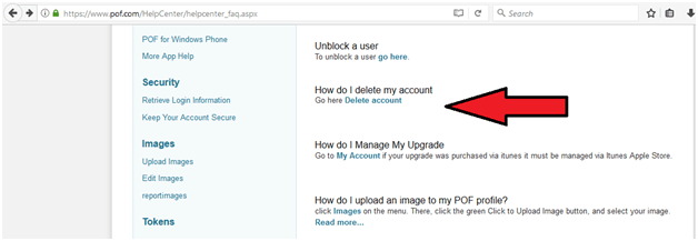 how to deactivate my pof account