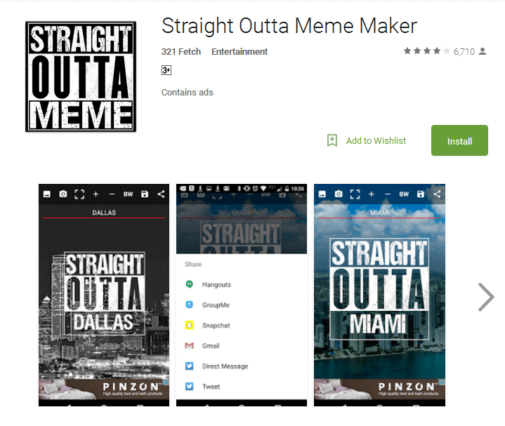 Straight outta meme maker
