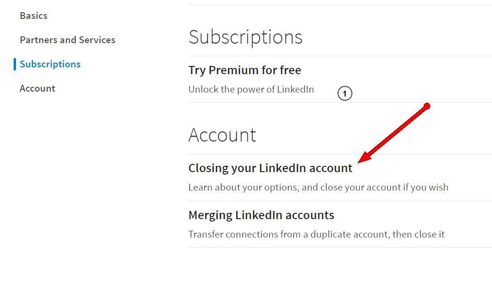 closing linkedin account