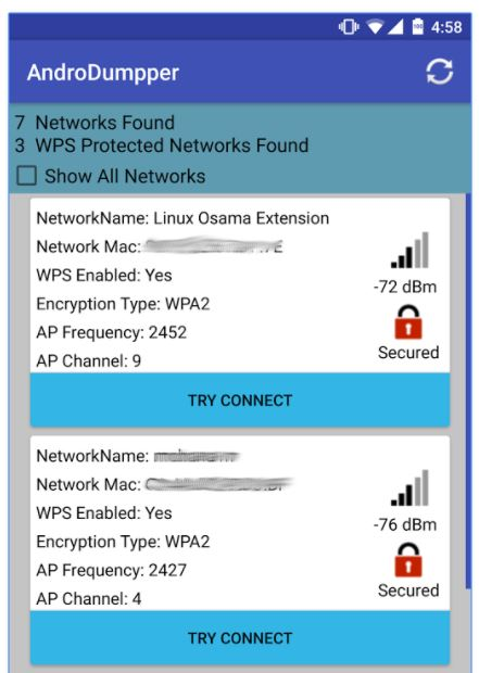 AndroDumpper to hack wifi