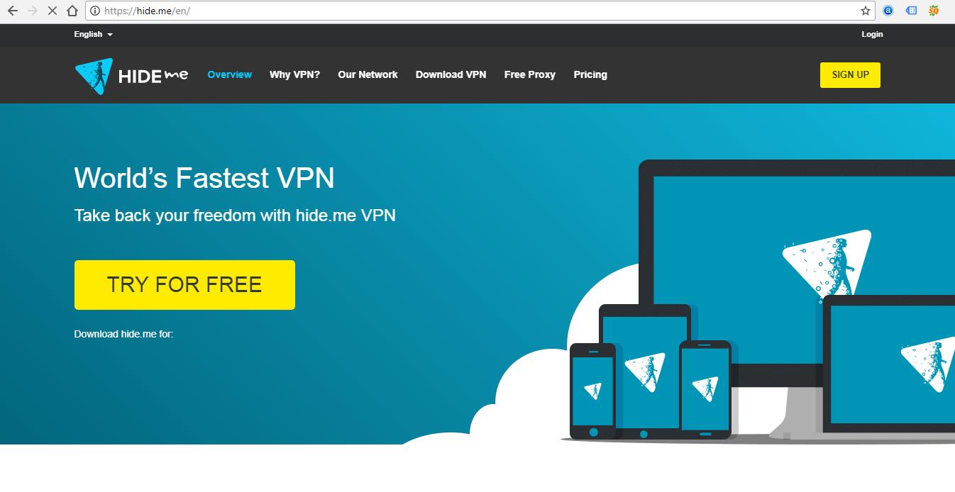 Hide ME VPN Services