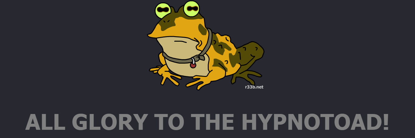 R33B - Get Hypnotized By A Toad