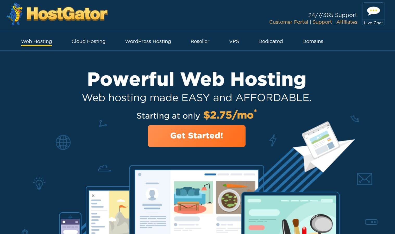 hostgator wordpress hosting service