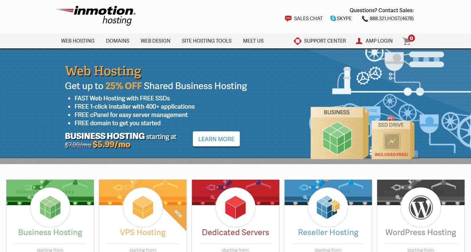 inmotion wordpress hosting service