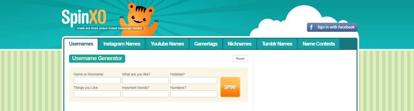 spinxo username generator