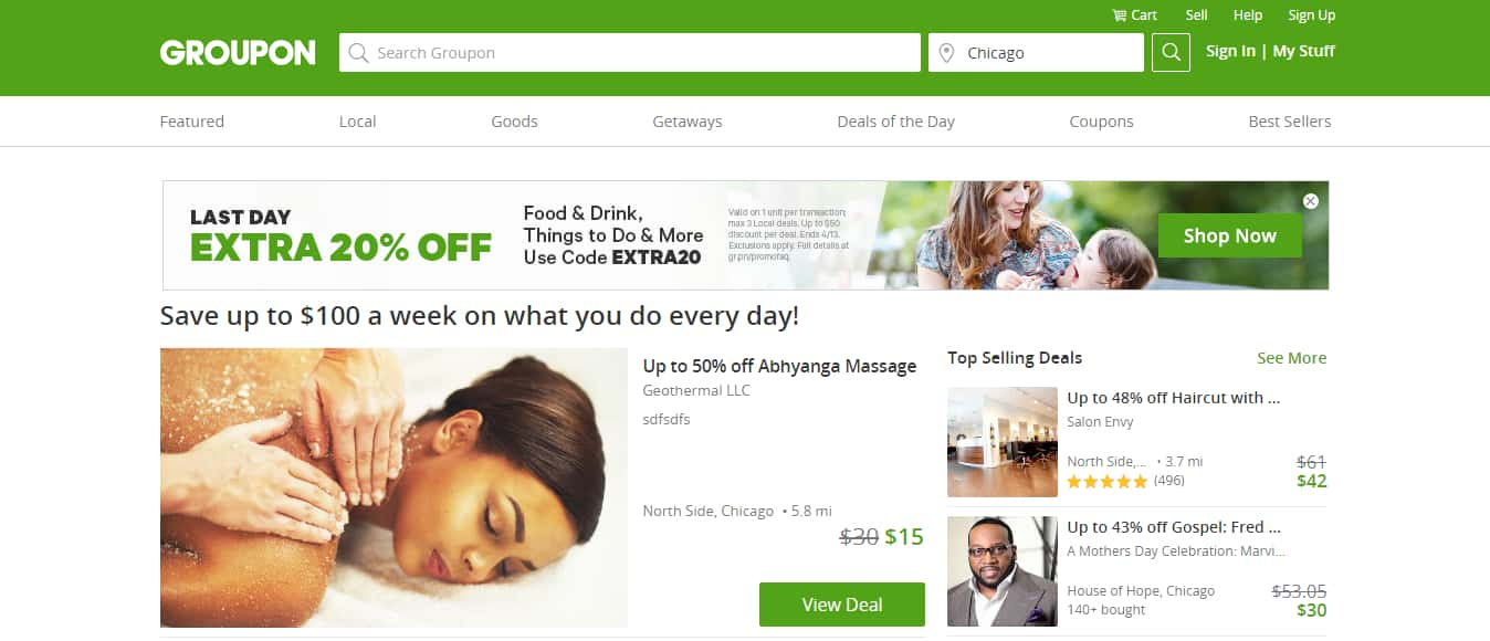 Best Coupon Websites - Groupon