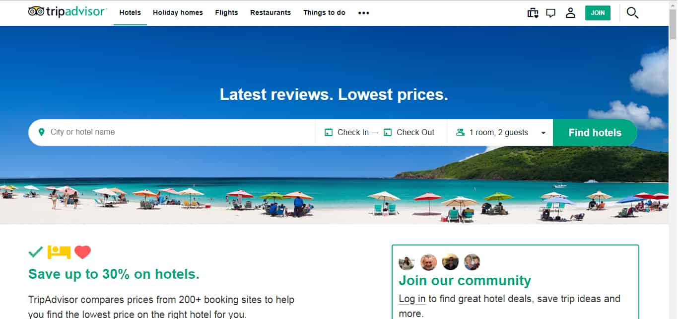 TripAdvisor - Best Travel Websites