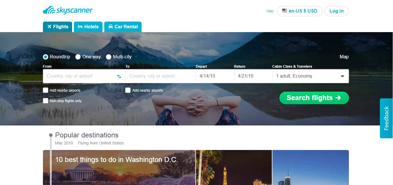 SkyScanner - Find Cheap Flights