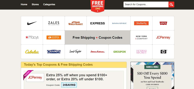 Popular Coupon Sites - FreeShipping