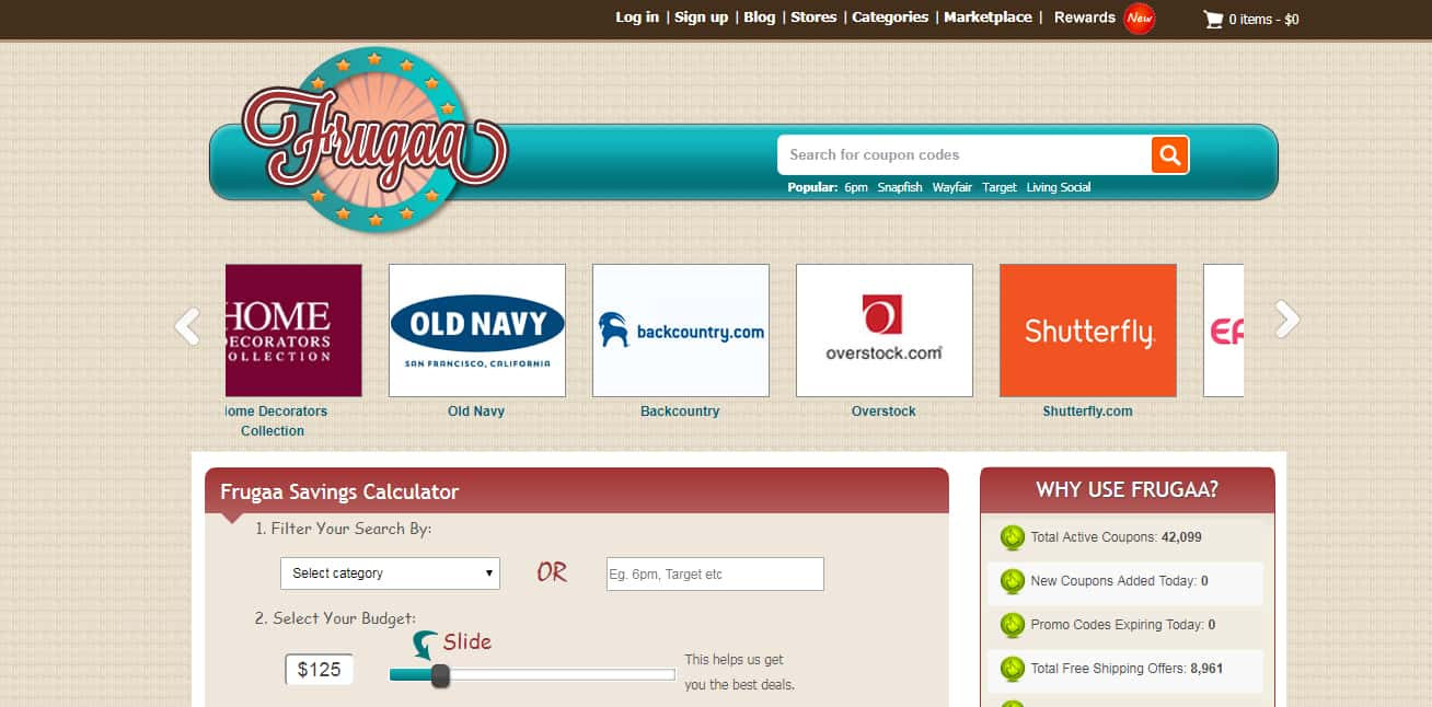 Top Coupon Sites - Frugaa