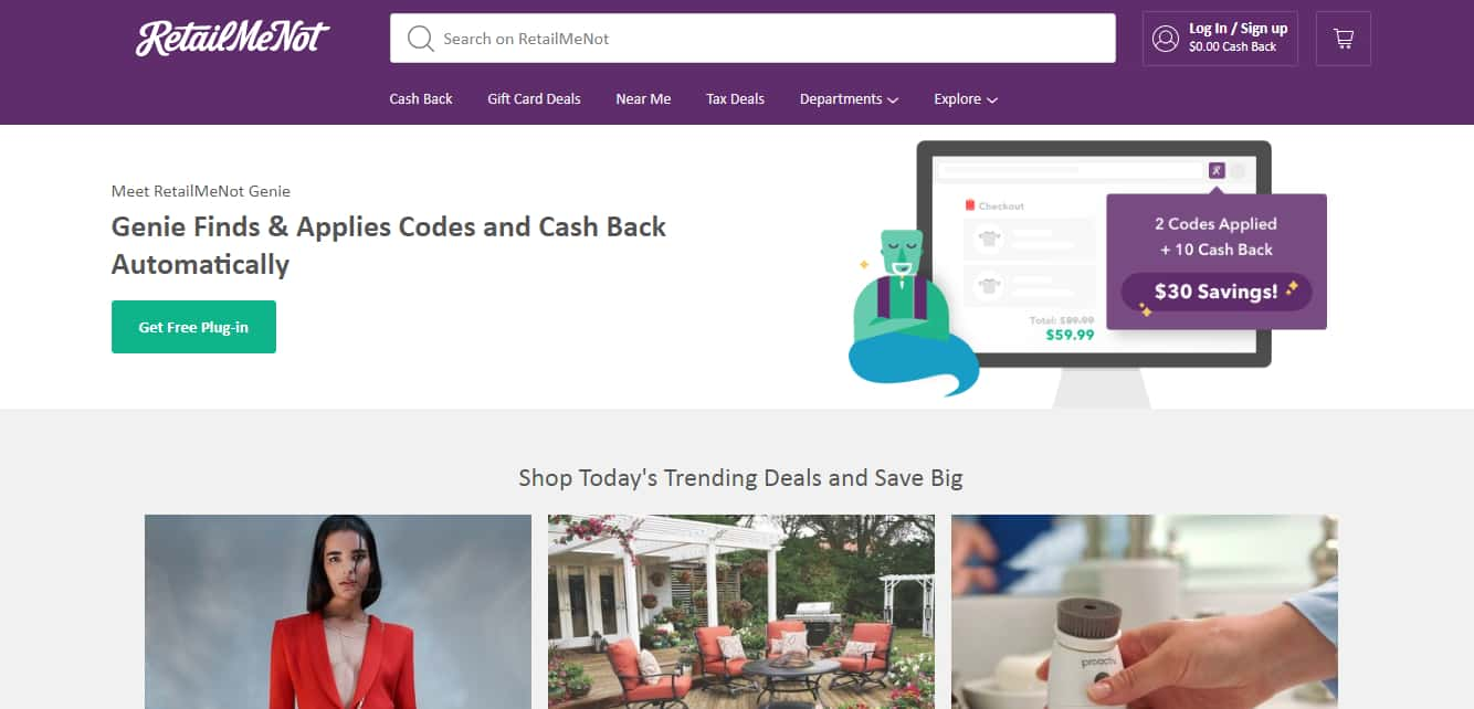 Top Coupon Websites - RetailMeNot
