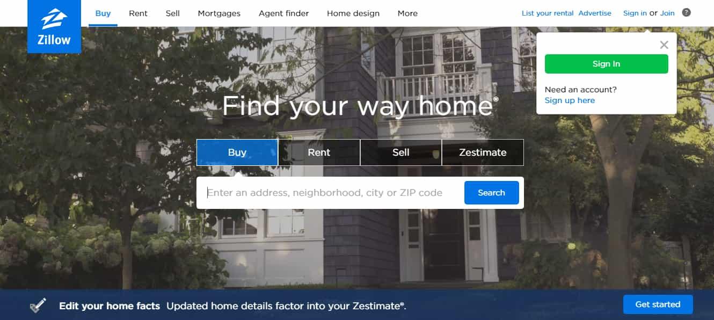 Zillow - Top Real Estate Website