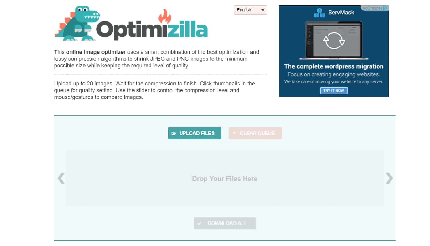 optimizilla image compression