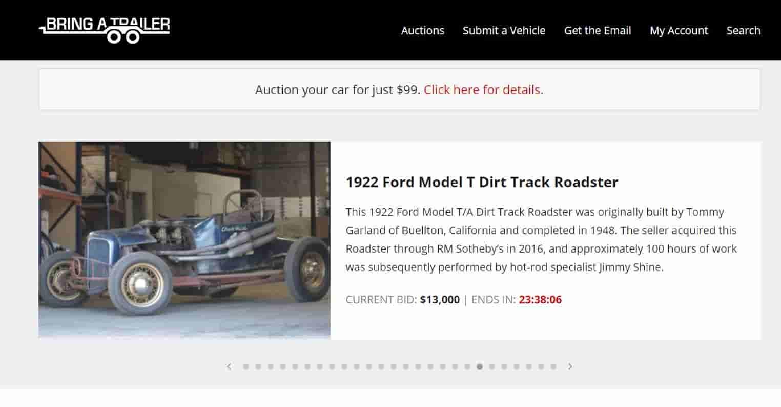 Bring a trailer - cars