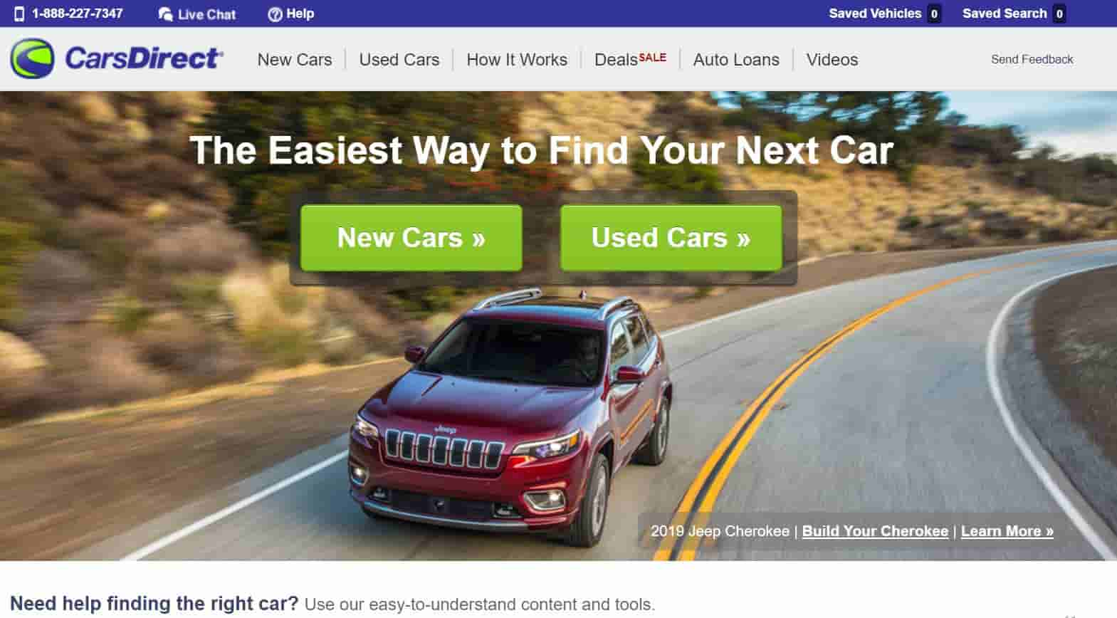 carsdirect used cars website