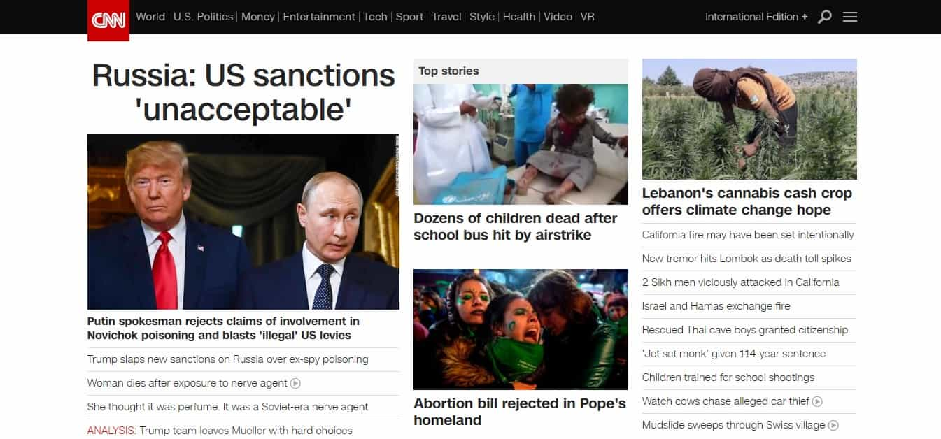 cnn news website