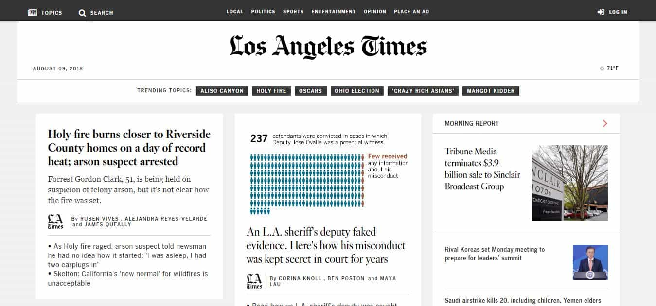 los angeles news news website