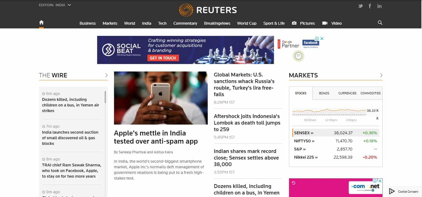 reuters news website