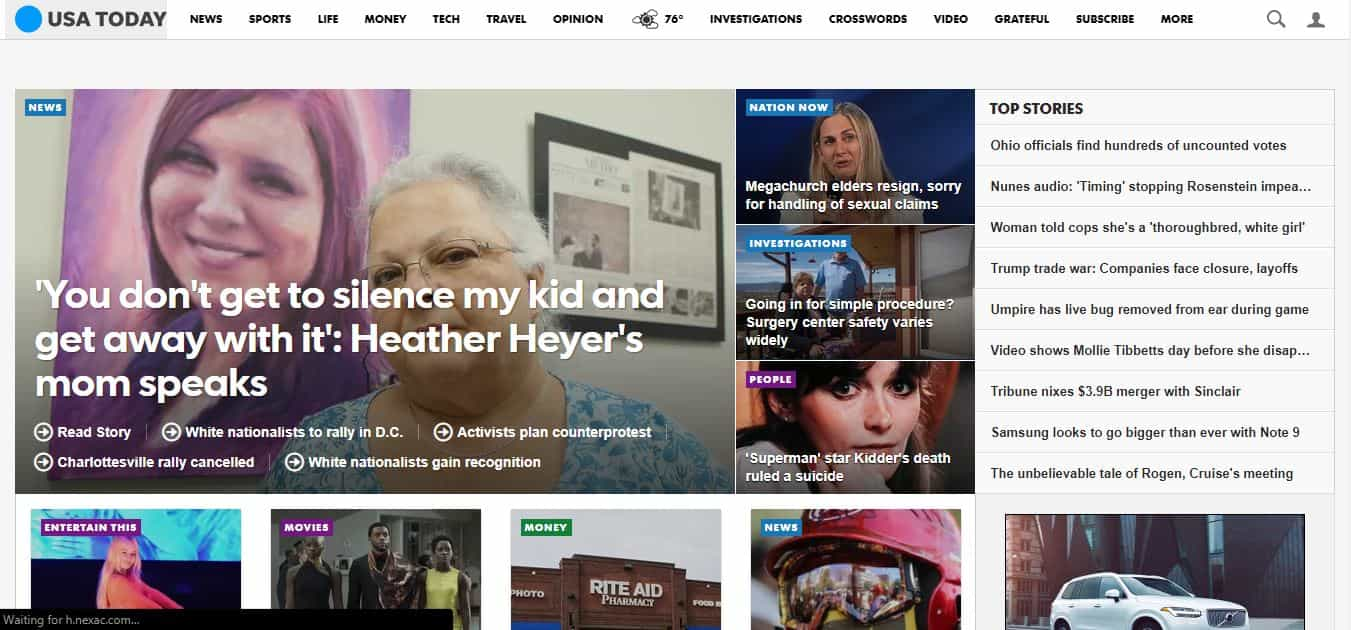 usa today news website