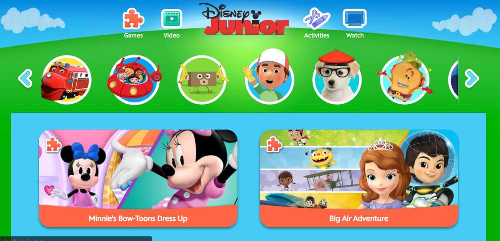 Junior Disney - cartoon online