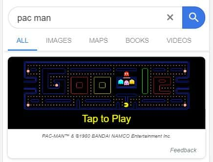 Pac Man - Google Easter Egg