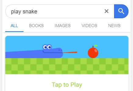 Play Snake - Google Easter Egg