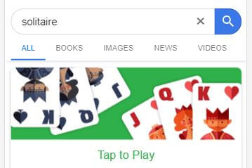 Solitaire - Google Easter Egg