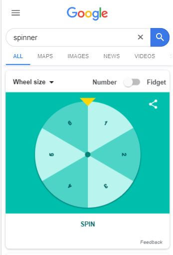 Spinner Wheel - Google Easter Egg