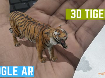 3D Tiger in phone using Google search